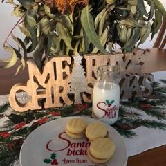 Santa's milk and bickies/cookie set - Personalised