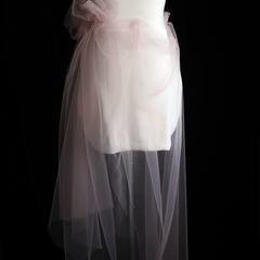 Poetess Day Skirt with Blush Tulle Flower Tailor-Made