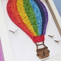 Hot Air Balloon Quilling Art Frame, Great Gift!