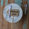 24 thank you Cupcake Toppers thank you Cake Toppers thank you picks wedding pick