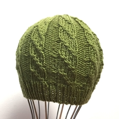 3-6m Baby, FREE POST , Beanie Hat, Hand Knit, Wool , Green