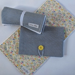 Nappy Wallet / Change Mat / Burp Cloth (MATCHING SET) - LoveVida