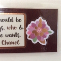 'A girl should be two things..' Fridge Magnet