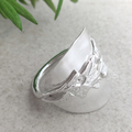 SUNFLOWER SPOON RING. Sterling Silver. Upcycled Silverware Jewellery.