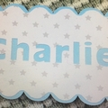 Baby card - custom made; various colours.