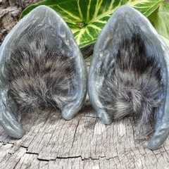 Grey Woodland Ears - festival or cosplay costume ears