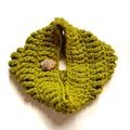 Crochet Cowl in Lemongrass Green