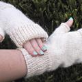 Fingerless Gloves wool alpaca blend