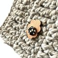 Crochet Cowl in Steel Grey