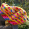 child's crocheted beret, acrylic, extra bright!  On Sale!!!