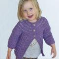 Girl's cardigan size 2, hand knit, wool and bamboo yarn