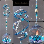 OCEAN MERMAID - Swing Spring Suncatcher with glass bulb