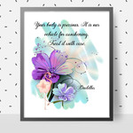 Your Body is Precious Quote DIY Wall Art Printable