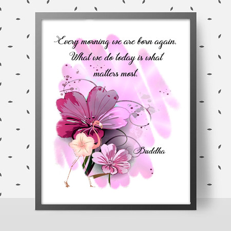 What Matters Most Quote DIY Wall Art Printable