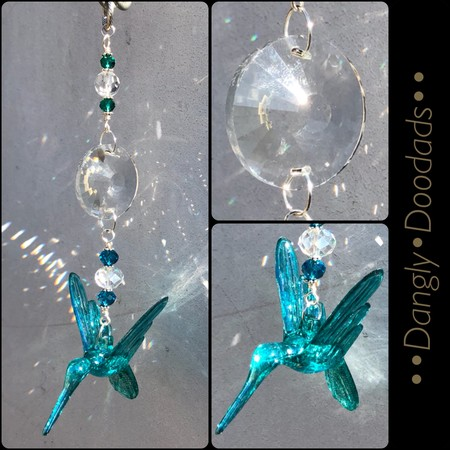 HUMMINGBIRD DANGLE 3 - Straight Suncatcher