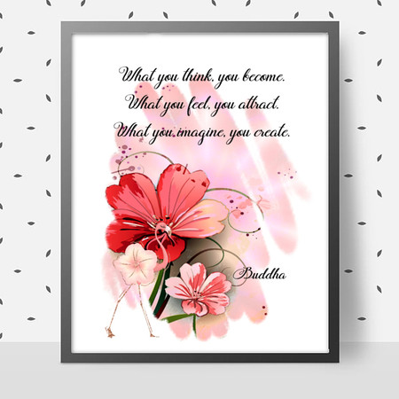 What You Imagine Quote DIY Wall Art Printable