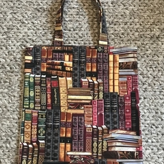 Antique books library/shopping bag