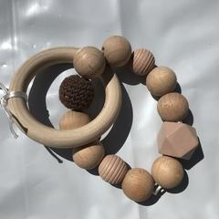 "Wooden Sensory Teething Ring ""Chris"" Brown"