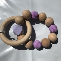 "Wooden Sensory Teething Ring ""William"" Purple"