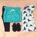 Size 2 - Bubble Shorties - Aqua - Cotton - Bloomers - Shorts - Retro