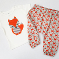 Size 2 - T-shirt - Fox - Baby Boy - Retro  -