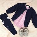 Size 000 - Romper - Dusty Pink - Cotton - Baby Girls - Retro
