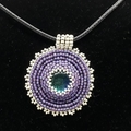 Dichroic Glass pendant Necklace