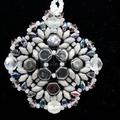 Black Swarovski Rivoli Beaded Pendant Necklace