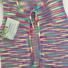 Tie-front Vest for toddler - Rainbow