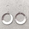 BIG HOOP EARRINGS, Sterling silver. Upcycled from Vintage Spoons.