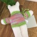 Baby Bear - Sage Handknitted