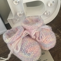 Rainbow Baby Bootees-REDUCED TO CLEAR!