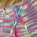 Tie-front Vest for toddler - Rainbow