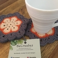 Crocheted coasters- set of 4 - Outback