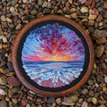 Seascape Hand embroidered Art, thread painting