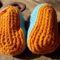 crochet baby shoes cotton/acrylic with vintage buttons. 9-10cm foot ON SALE!!!