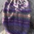crocheted baby sleeping or pram cocoon. Wool and soy blend yarn