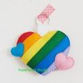 Rainbow Heart Keyring-Keychain-Bag Charm-Home Decor-Wedding Gift-Birthday Gift