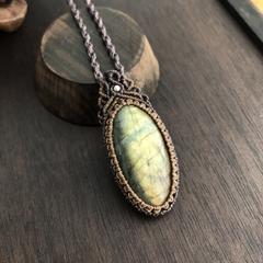 Labradorite Macrame Necklace