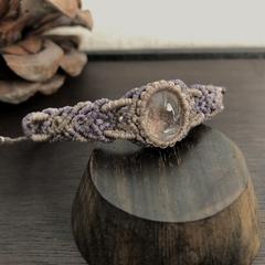 Garden Quartz Macrame Bracelet