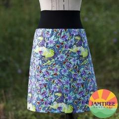 Unicorns & Florals Skirt Tula Pink. Ladies sizes 6~24 FREE POST