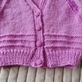 Size 3-9 months: Girls cardigan co-ordinated beanie