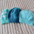 *Special * 3 beanies: (6-12 mths): Washable, unisex