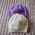*Special * 2 beanies: (6 - 12 mths): Washable, girl