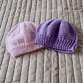 *Special * 2 beanies: (0 - 6 mths): Washable, girl