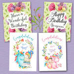 Birthdays & Newborn Boy Girl DIY Card Kit Printables