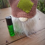 Handmade Crochet Diffuser Gnome - Green & Cream