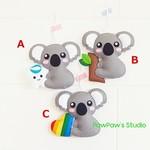 Koala Tooth Fairy Pillow-Ornament-Home Decor-Gift-Rainbow-Heart