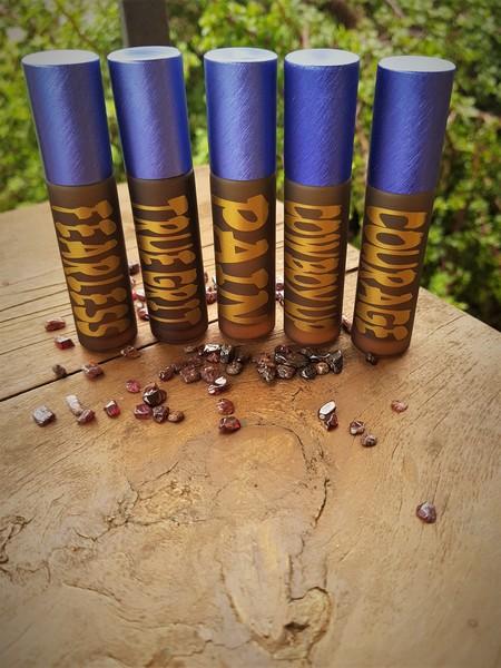 Set of 5 Roller Bottles for Essential Oils.
