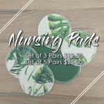 Nursing Pads (Set of 5) | Washable Breast Pads | Reusable Ecofriendly Cloth En